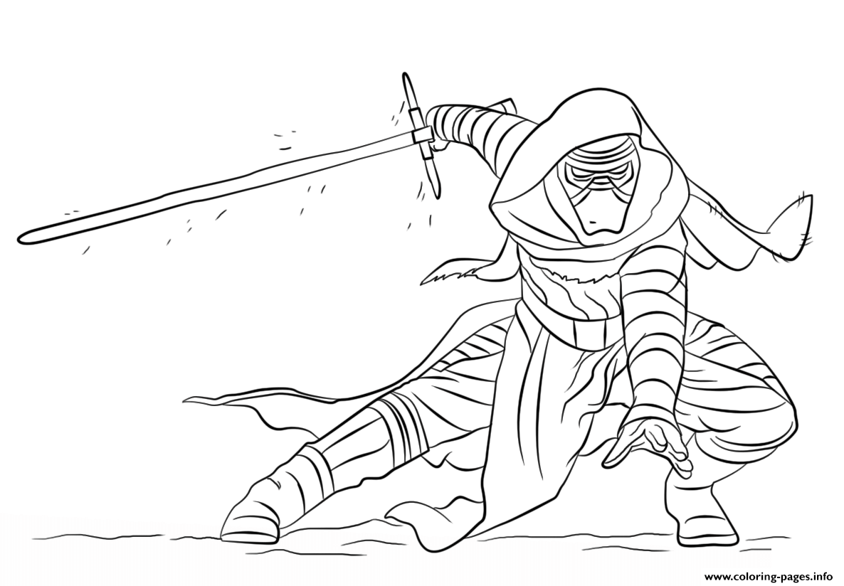 Kylo Ren Star Wars Episode VII The Force Awakens coloring pages