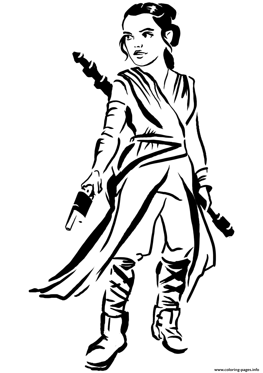Chopkins Kleurplaat Rey Star Wars Episode Vii The Force Awakens Coloring Pages