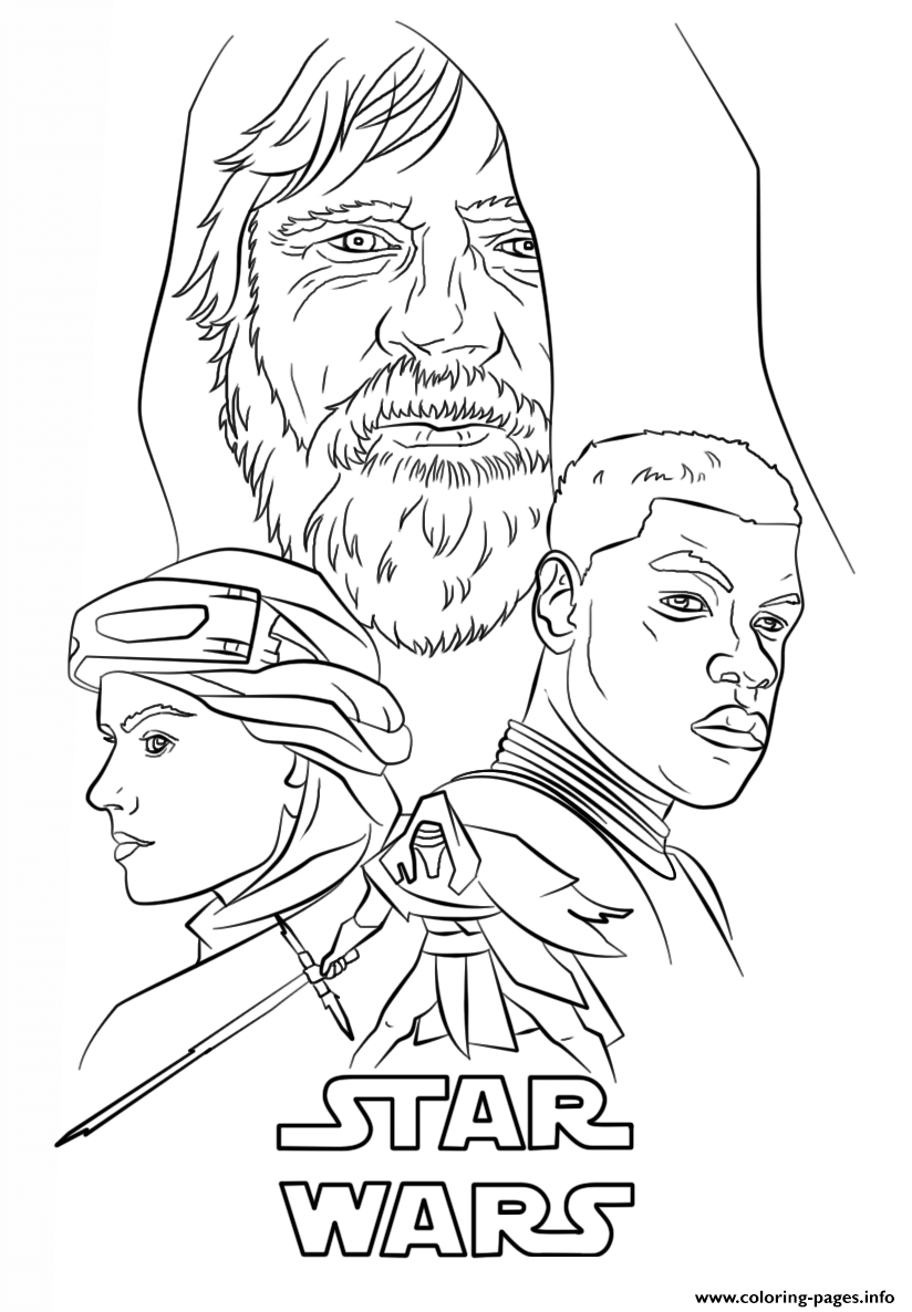 The Force Awakens Poster Star Wars Episode VII The Force Awakens coloring pages