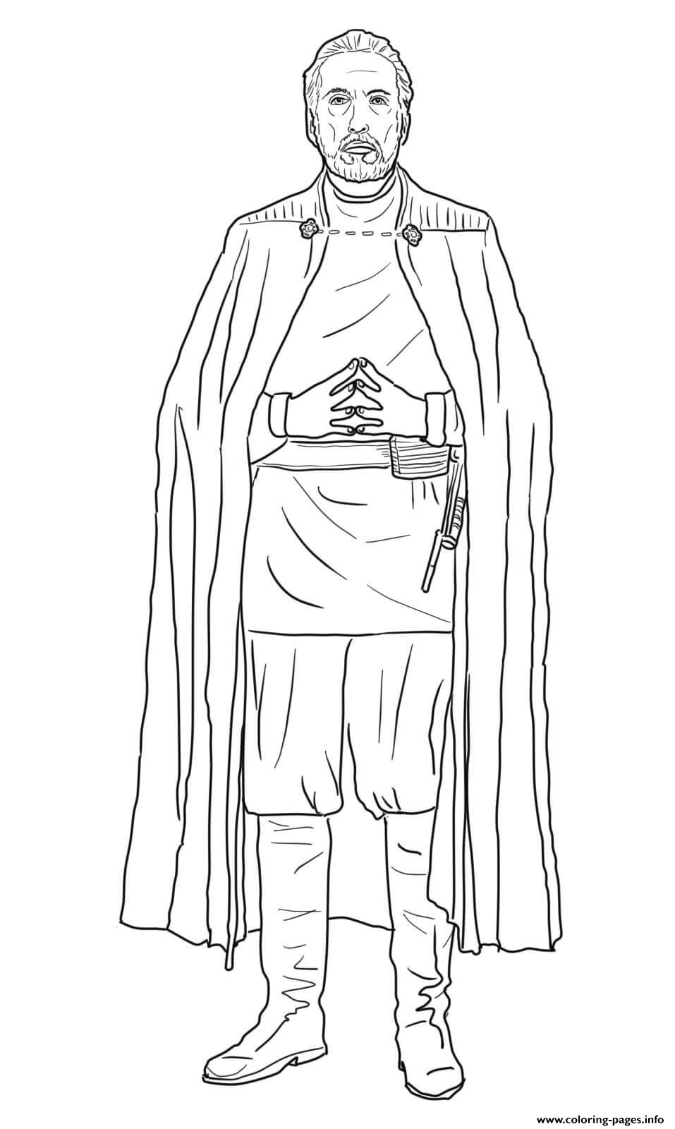 Count Dooku Star Wars The Clone Wars coloring pages