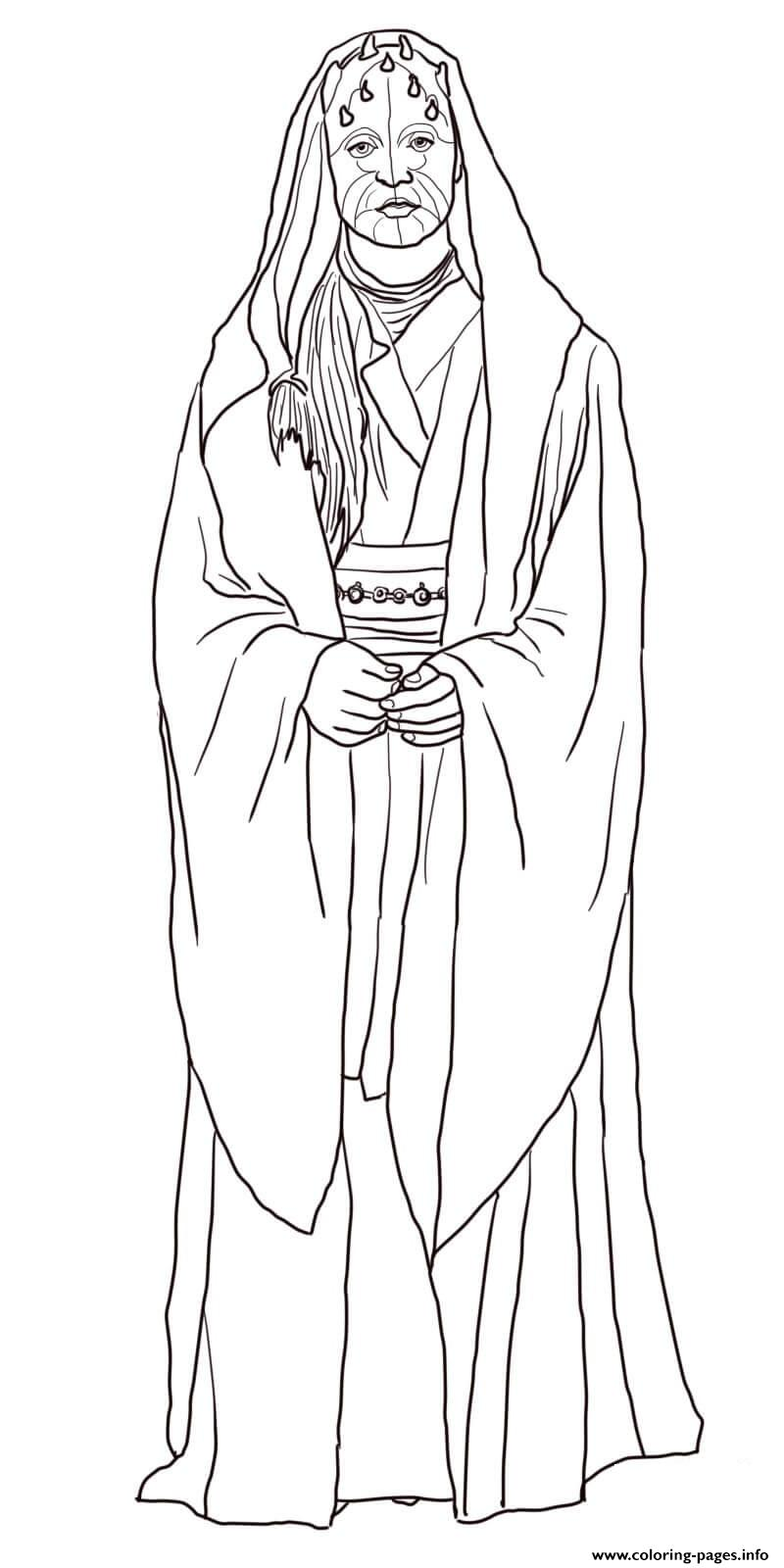 Eeth Koth Star Wars The Clone Wars coloring pages