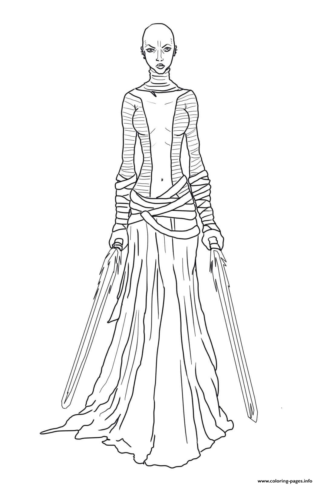 Asajj Ventress Star Wars The Clone Wars coloring pages