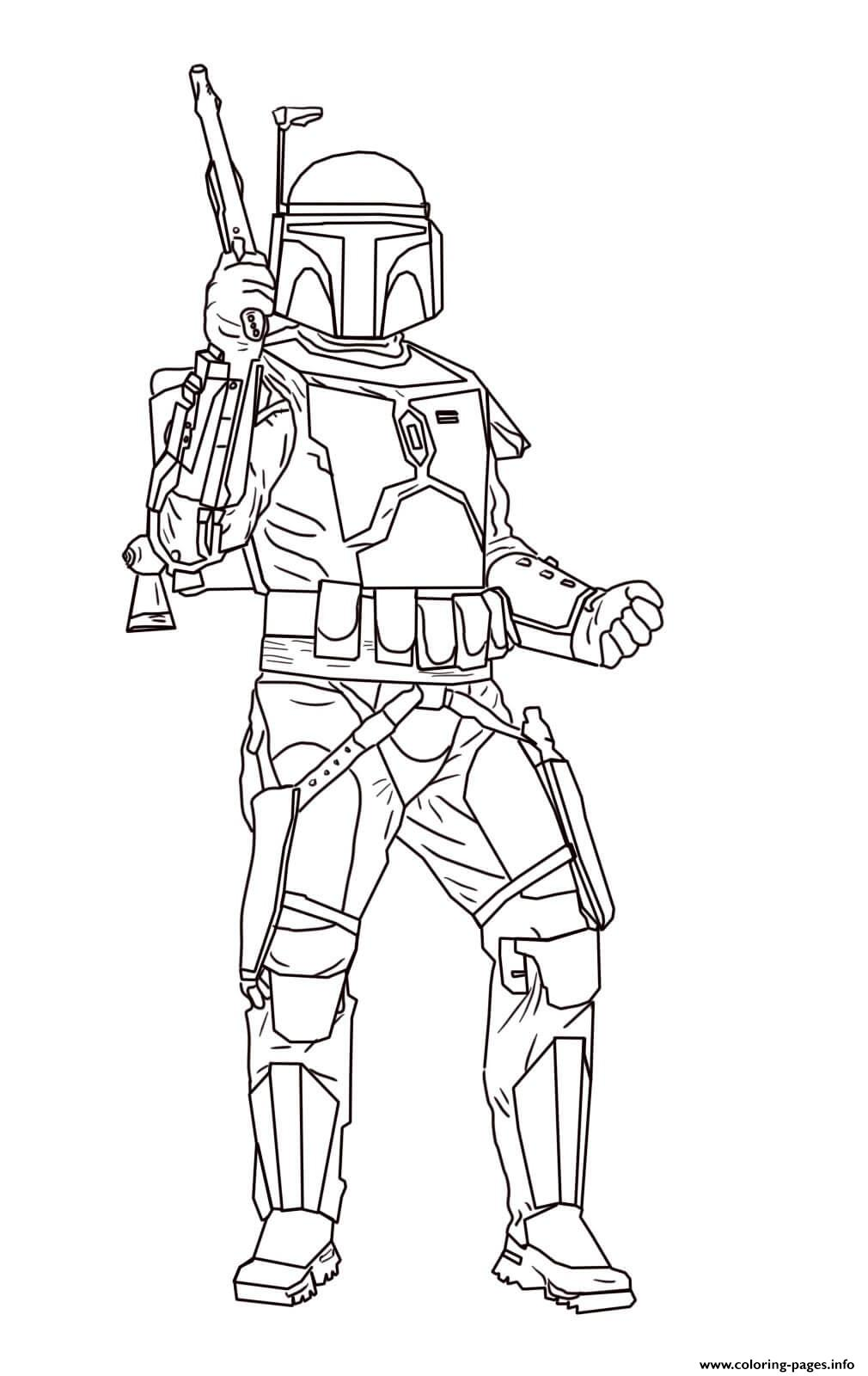 Jango Fett Star Wars Episode II Attack Of The Clones coloring pages