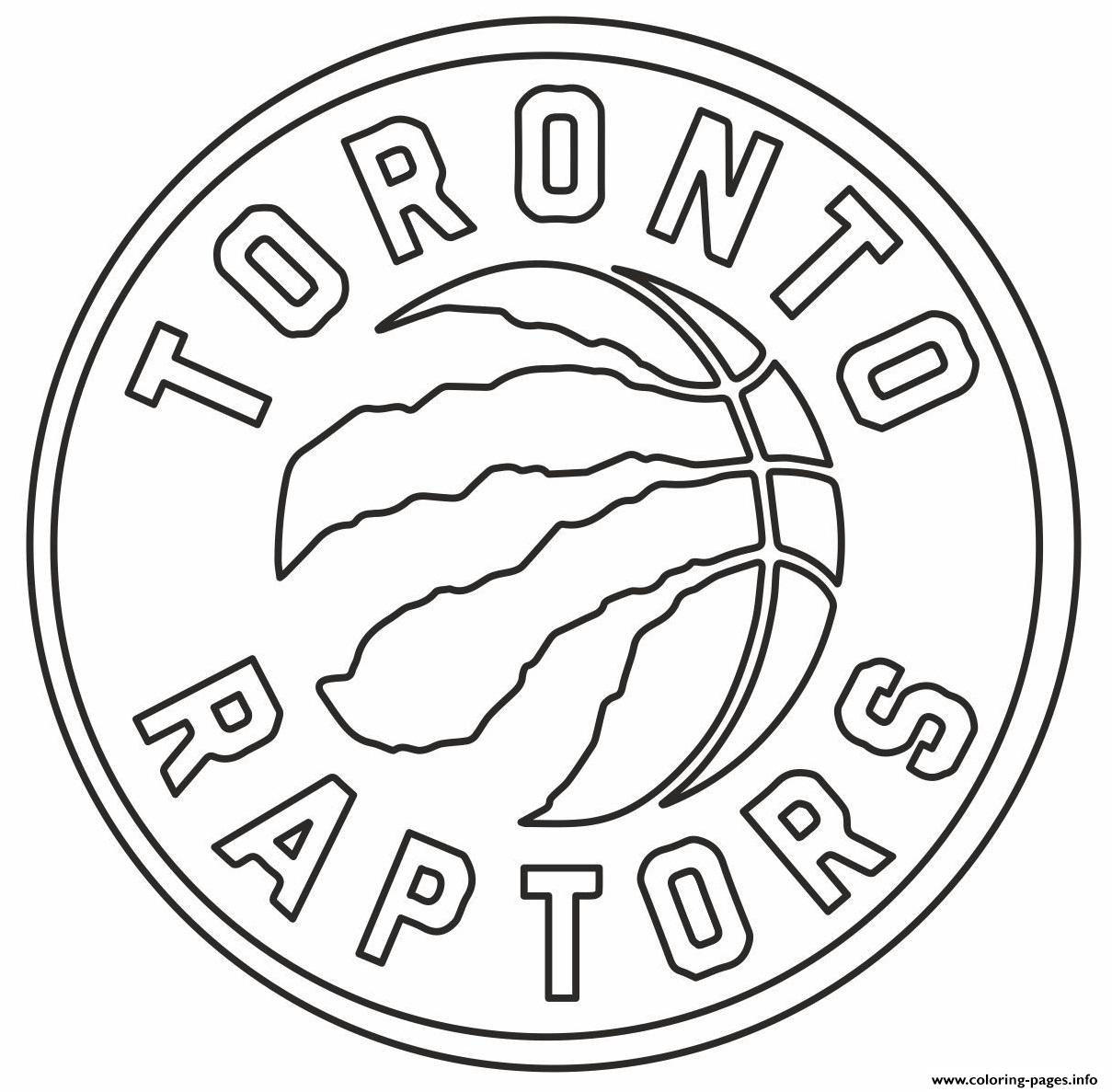 Raptors NBA Toronto Logo Coloring