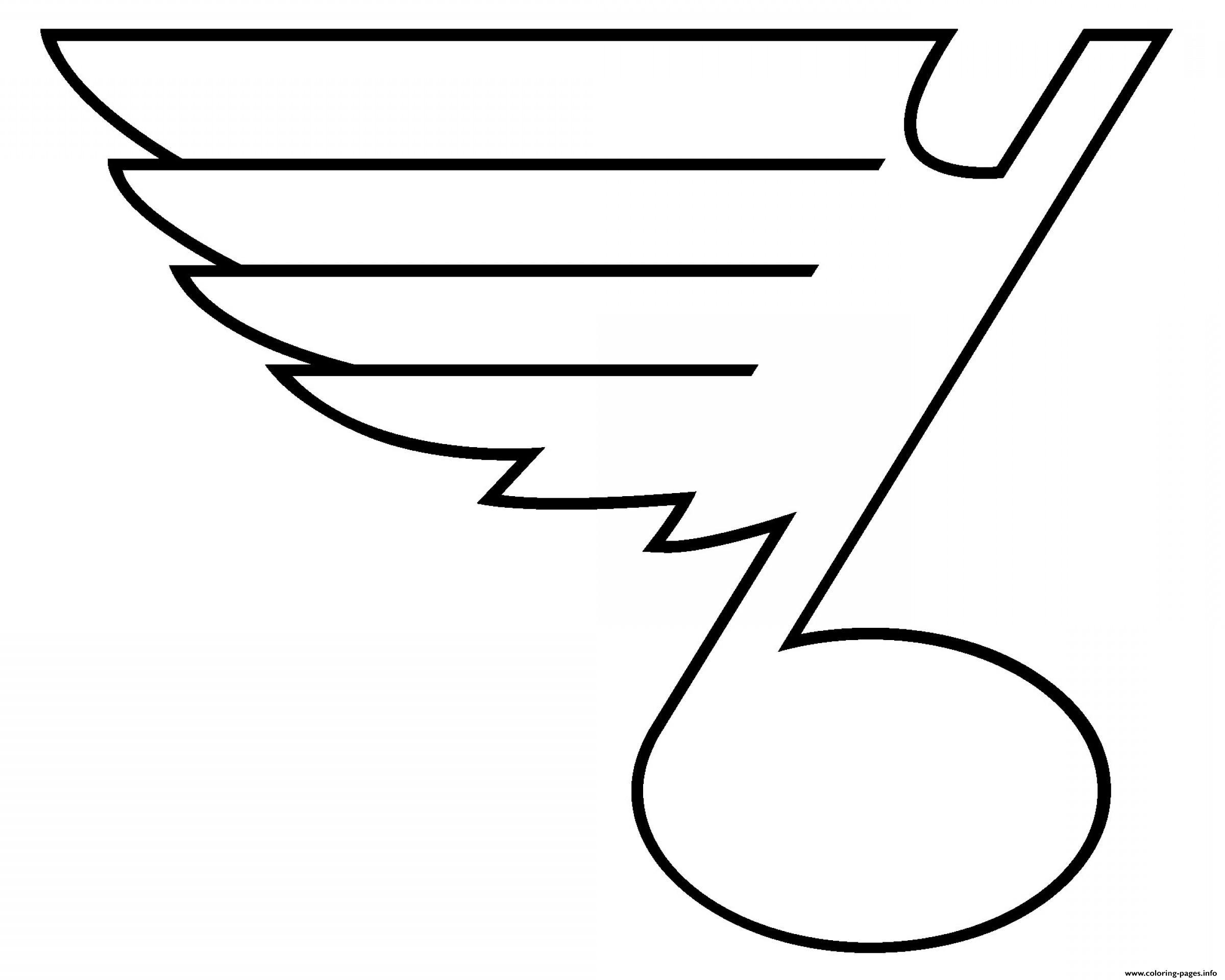 St louis blues nhl logo coloring pages printable