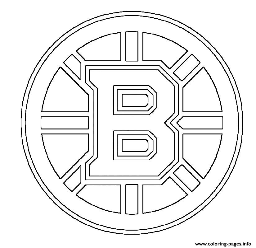 graphic regarding Boston Bruins Printable Schedule called NHL Boston Bruins Emblem Coloring Webpages Printable