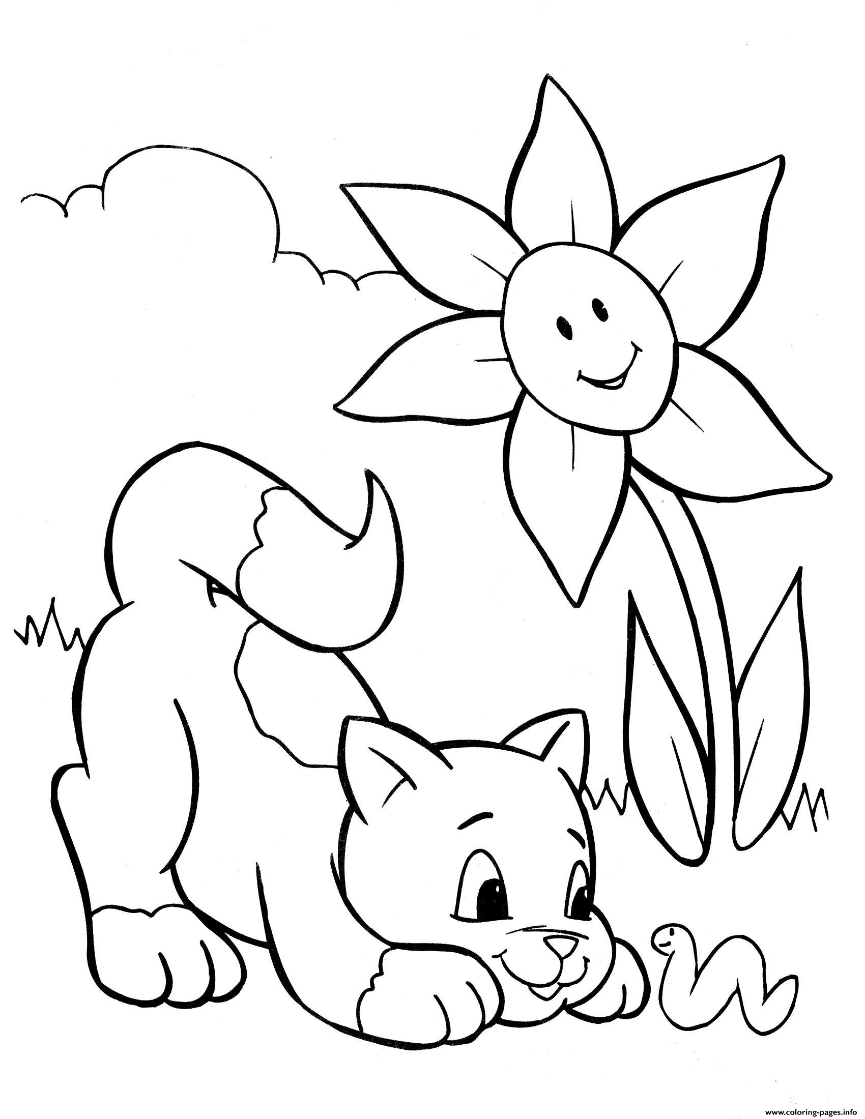 Crayola Cat And Snake Animal Coloring Pages Printable