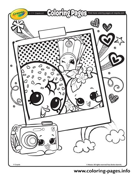 Crayola Shopkins Coloring Pages Printable