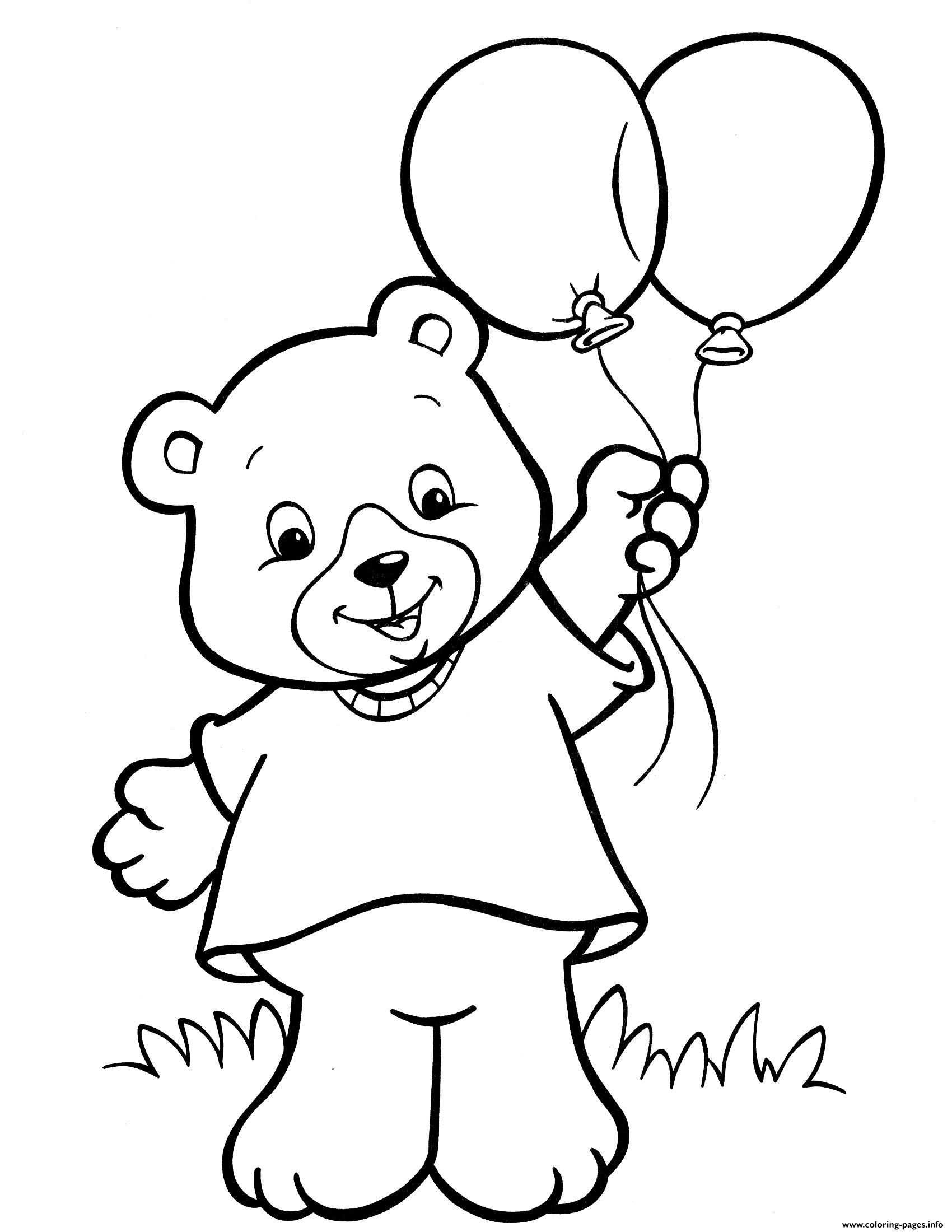 - Crayola Teddy Bear Balloon Coloring Pages Printable