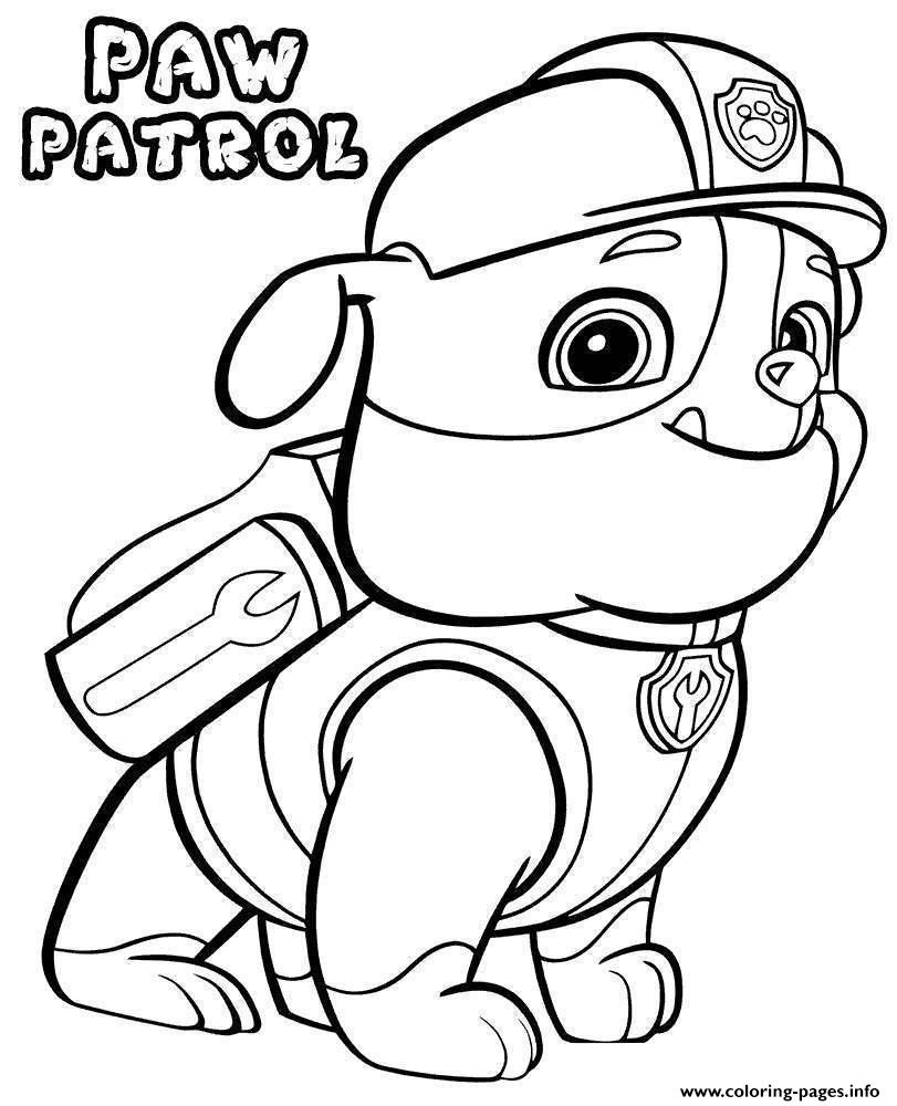 Paw Patrol Dog coloring pages