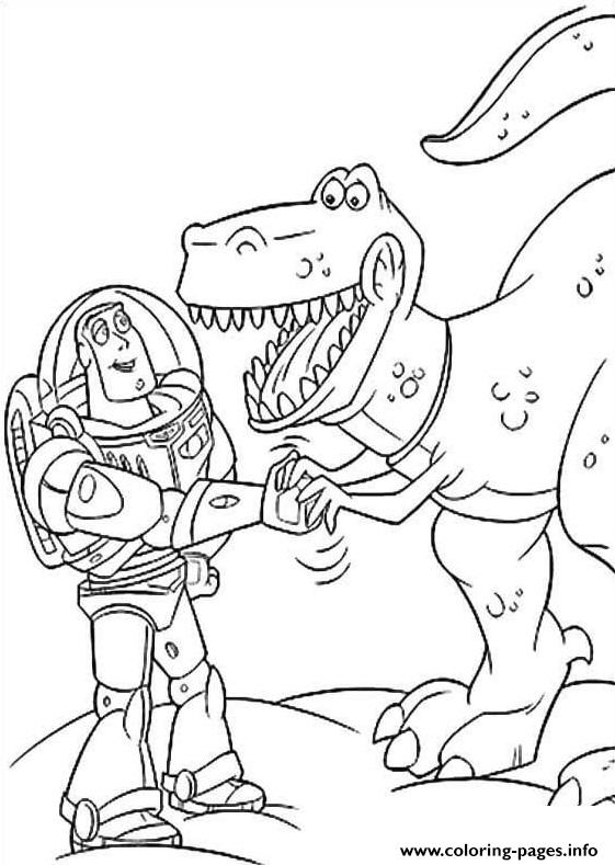 Buzz Lightyear With Rex Coloring Pages Printable