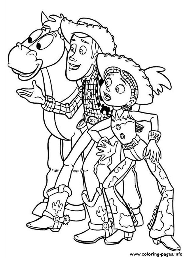 Toy Story Andy Jessie Bullseye Horse Surprise Coloring