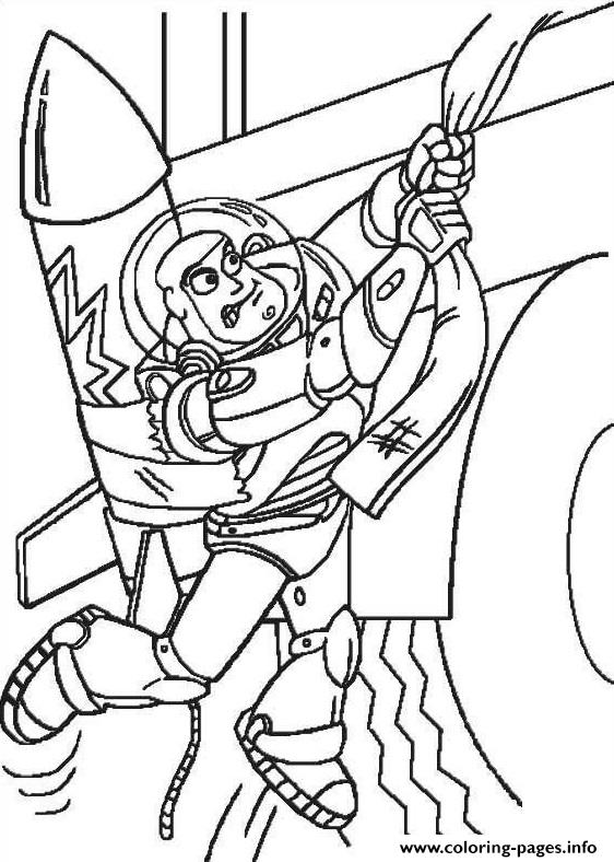 Buzz Lightyear Try To Go Up Stair Coloring Pages Printable