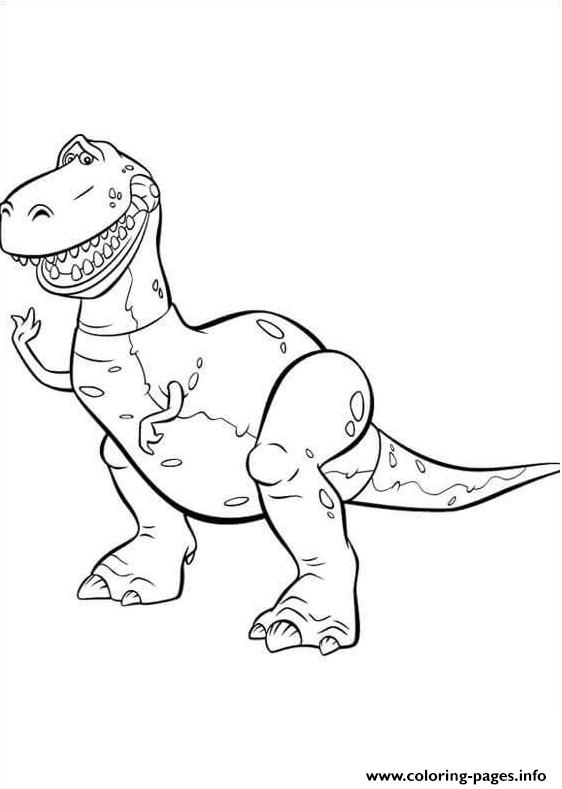 Rex Is Standing coloring pages