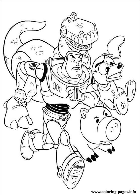 The Toys Are Running Together coloring pages