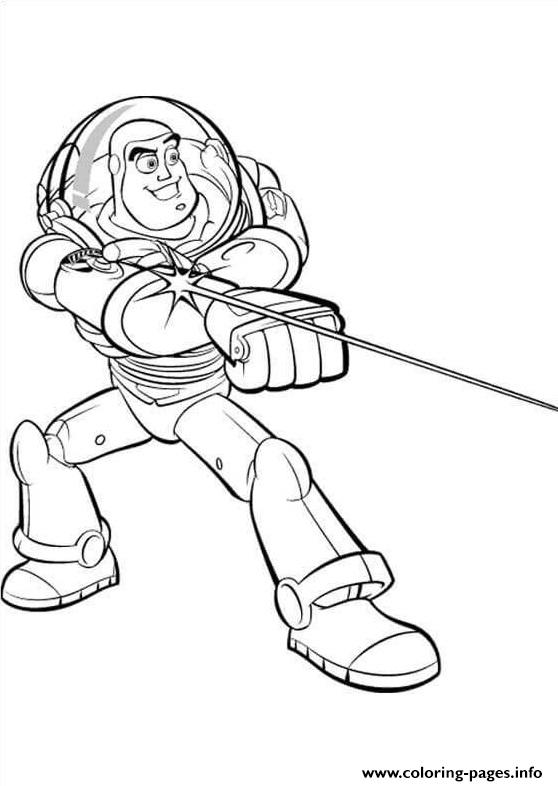 Buzz Lightyear Shoots The Light coloring pages