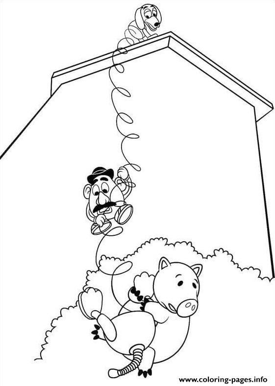 Haqmm Mr Potato Head And Slinky Dog coloring pages