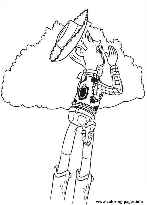 Woody Sheriff Is Yelling Coloring Pages Printable