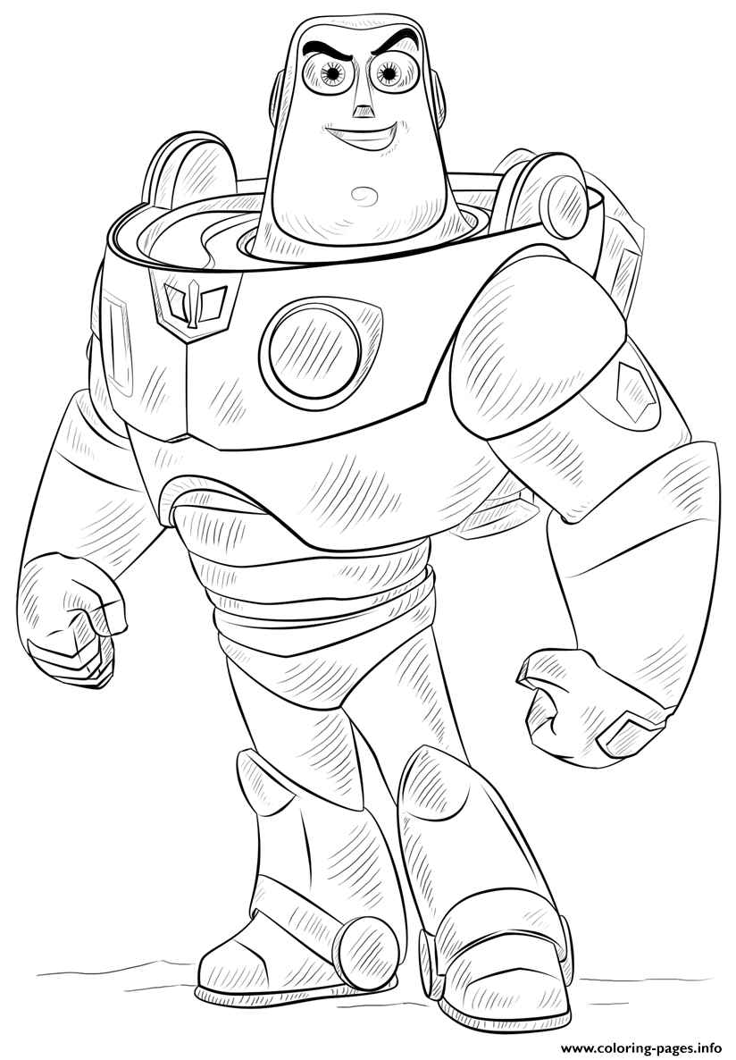 Buzz Lightyear Toy Story Coloring Pages Printable