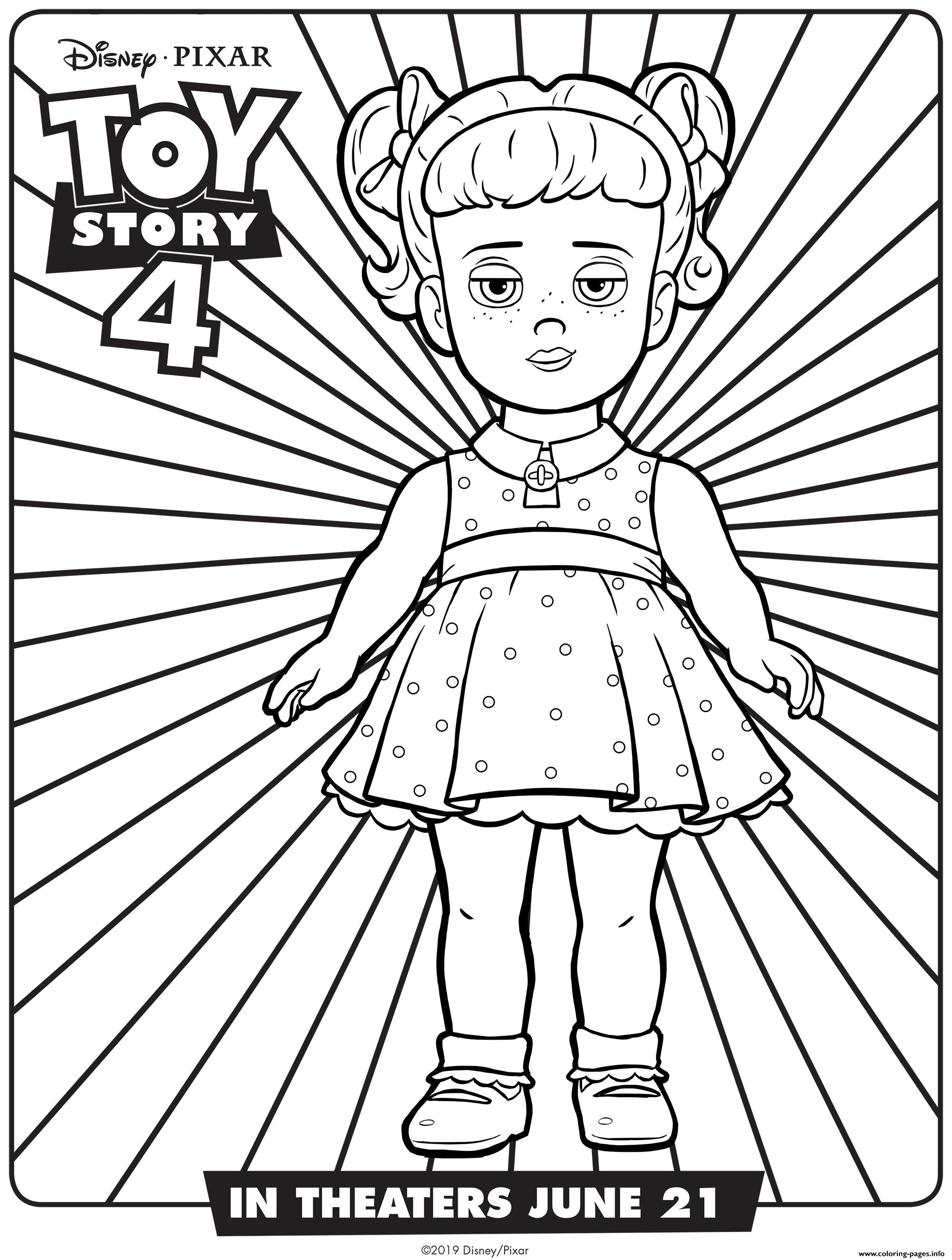 Toy Story 4 Gabby Gabby Coloring Pages Printable