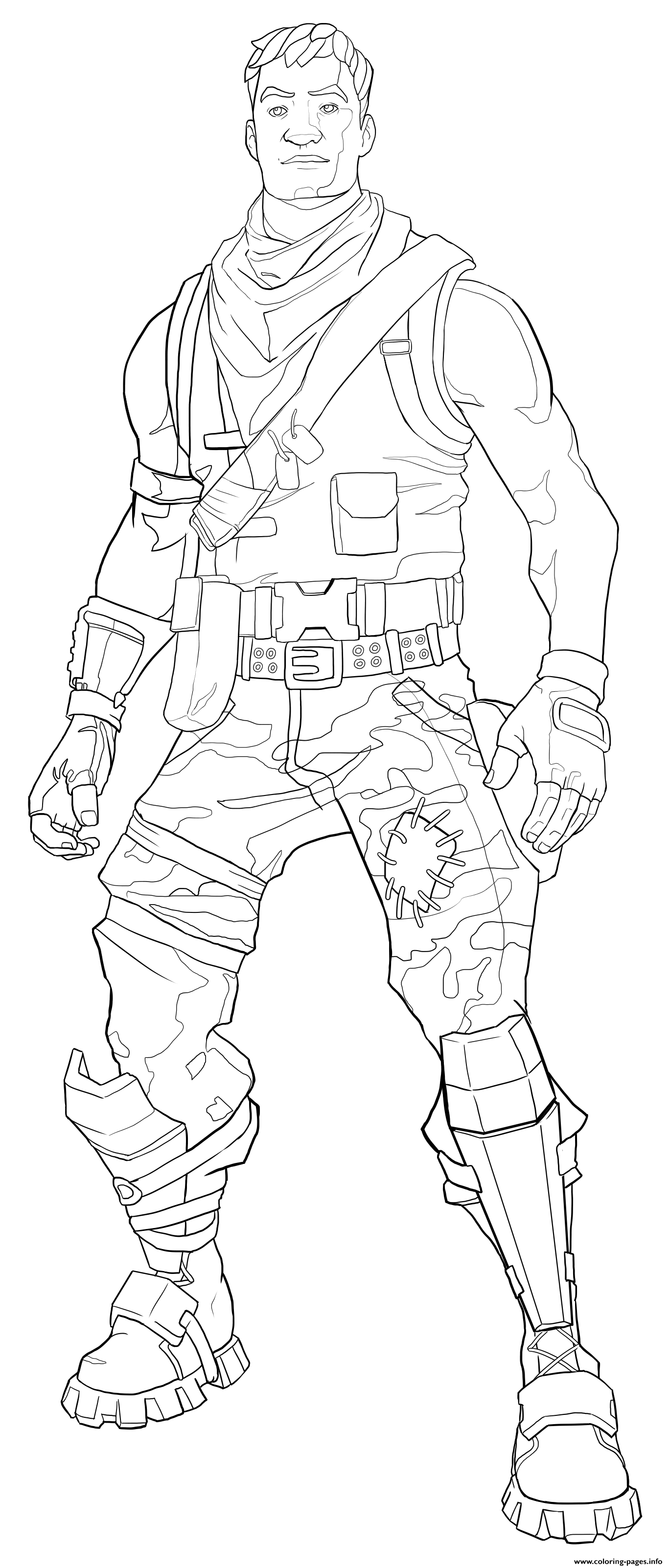 Fortnite Default Skin Coloring Page Male coloring pages