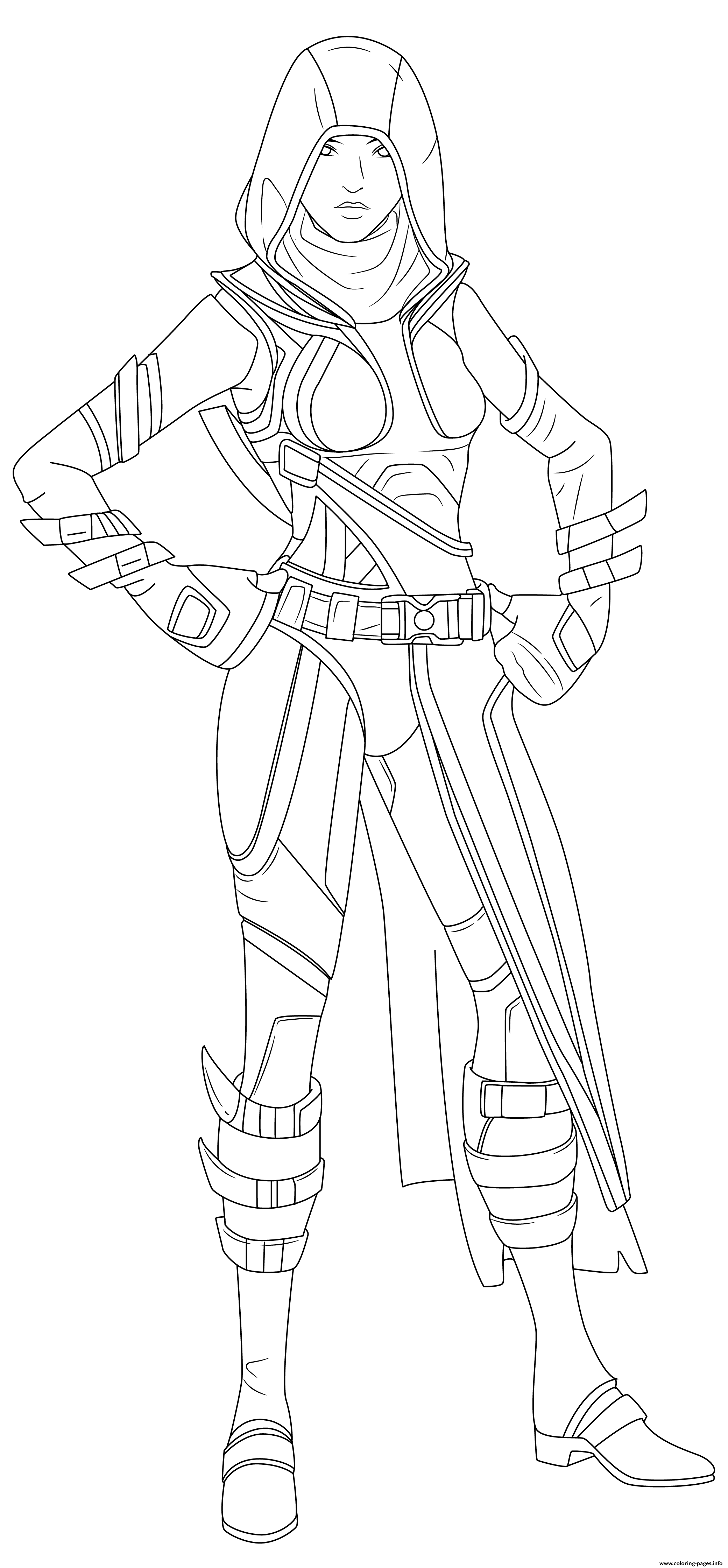 Fortnite Fate Skin Hd coloring pages