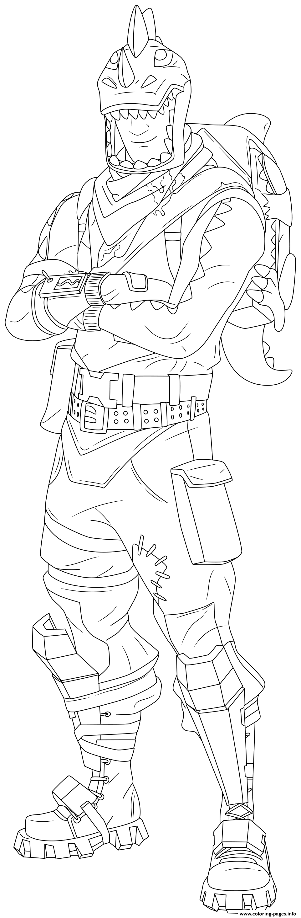 Rex Fortnite Skin Hd coloring pages