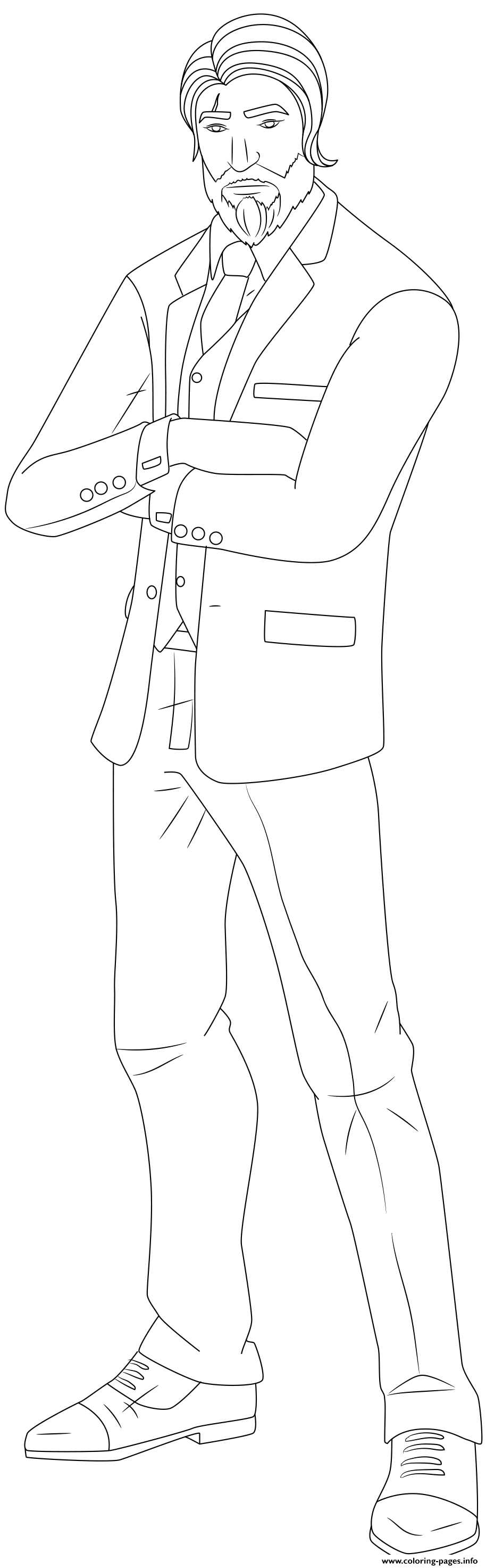 The Reaper Fortnite Skin Hd coloring pages
