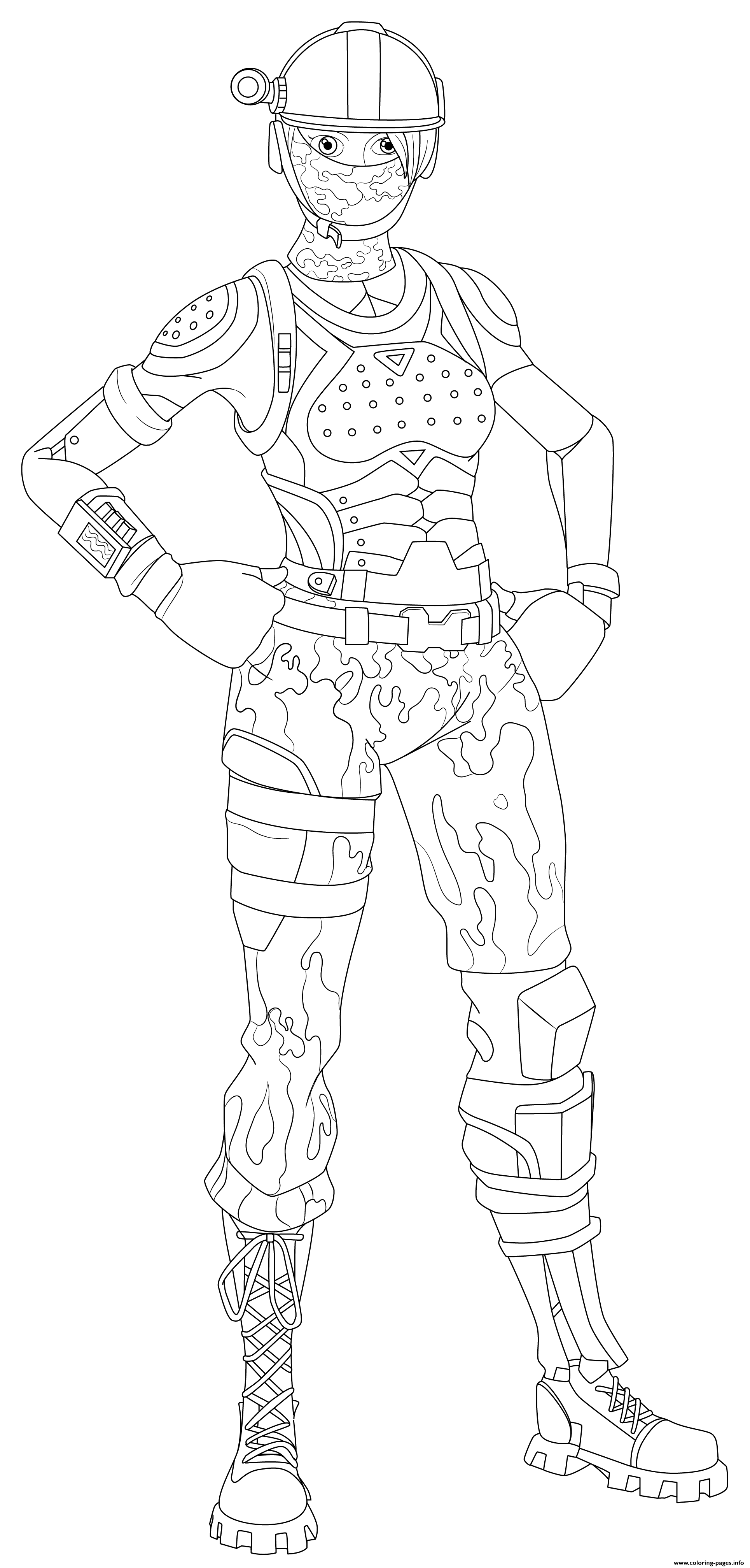 Fortnite Elite Agent Hi Res Coloring Pages Printable