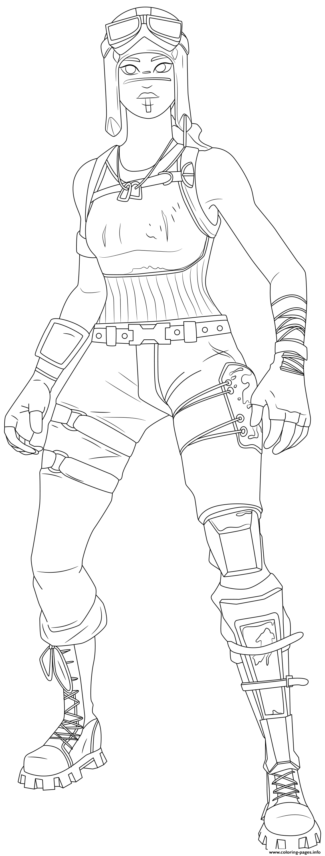 Renegade Raider Fortnite Skin Hd Coloring Pages Printable