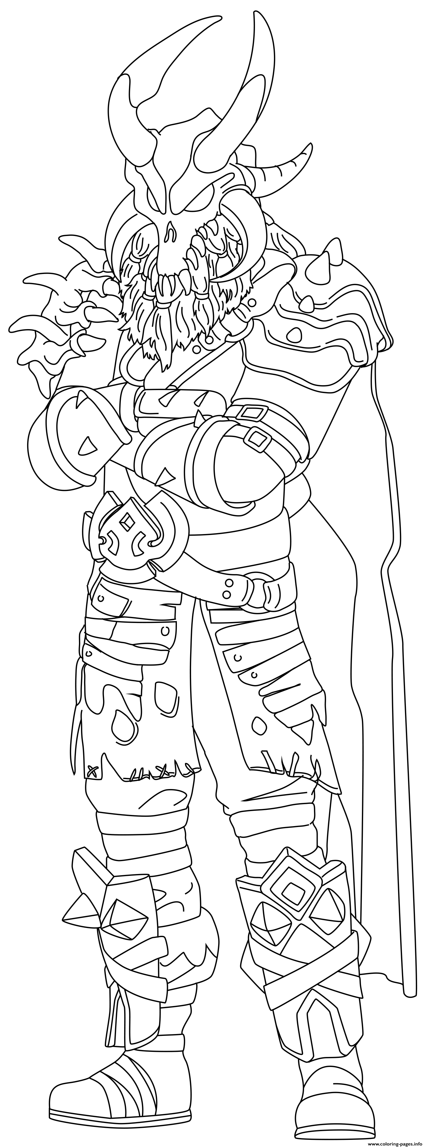 Ragnarok Fortnite Skin Hd coloring pages