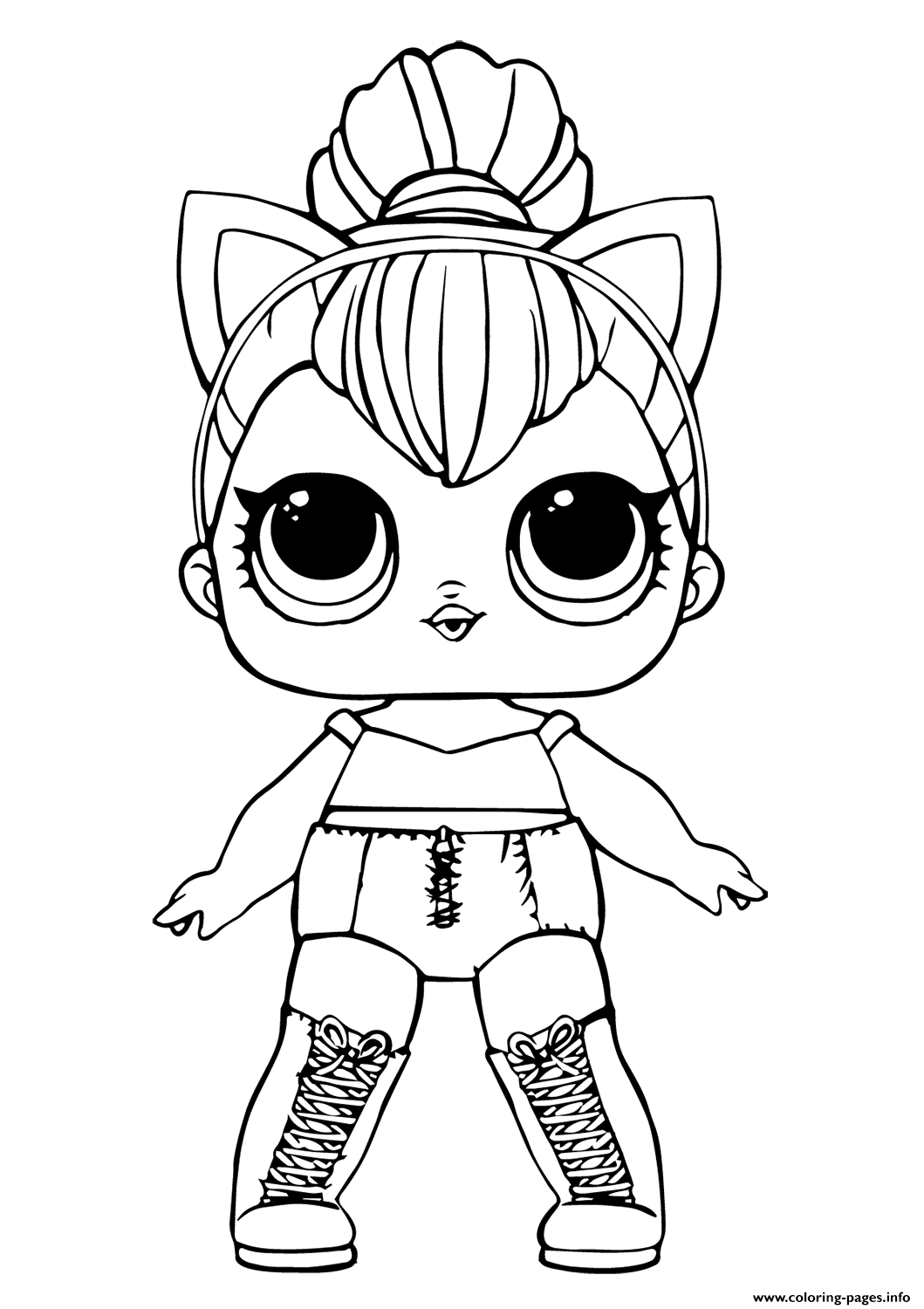- Lol Doll Kitty Queen Coloring Pages Printable