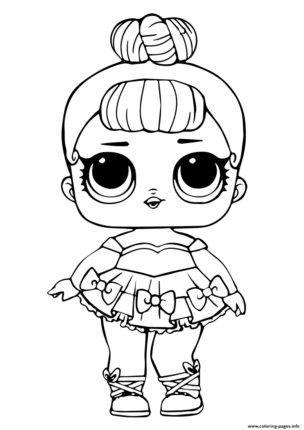 Lol Doll Miss Baby Glitter Coloring Pages Printable