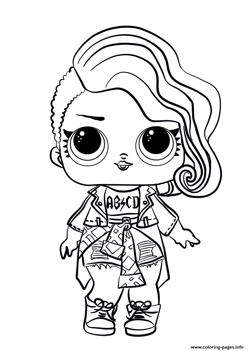 Lol Surprise Doll Rocker Coloring Pages Printable