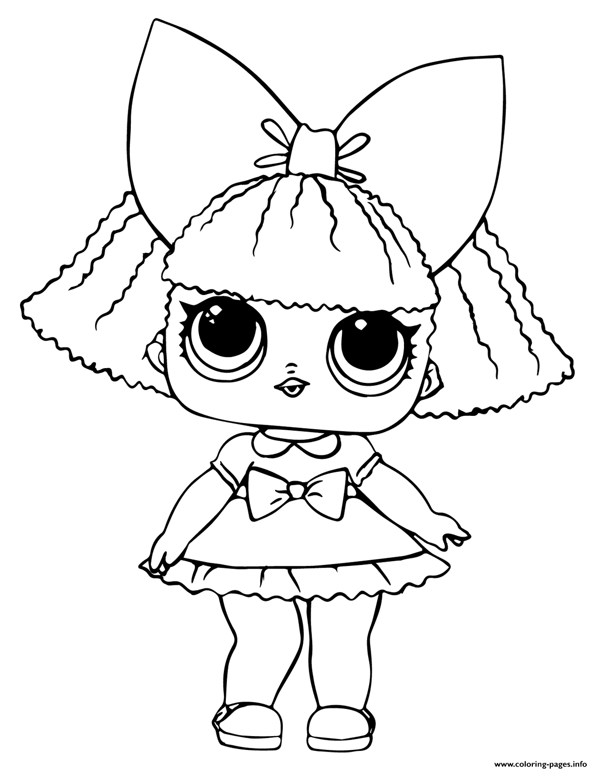 Lol Doll Glitter Queen Coloring Pages Printable