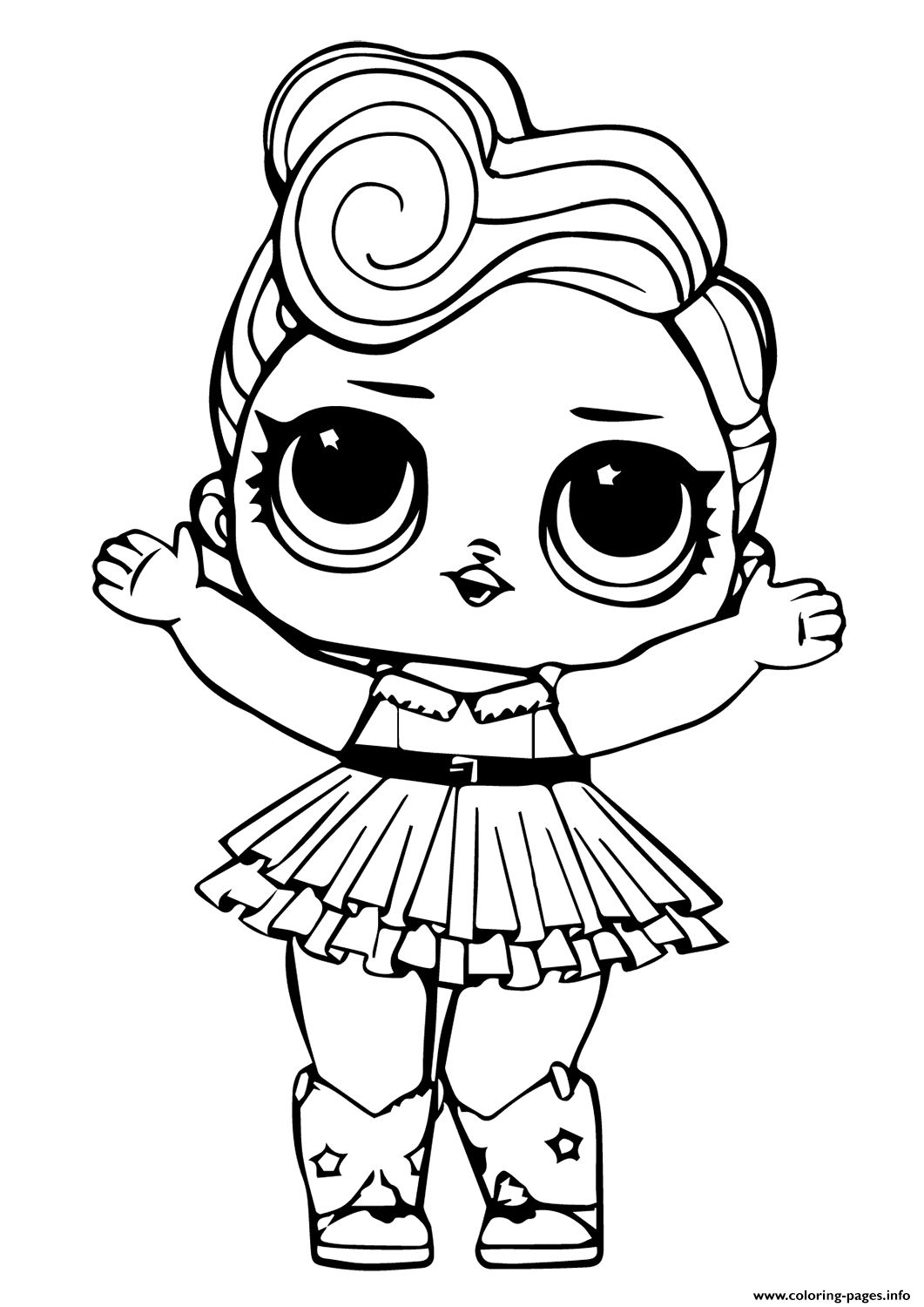 Leading Baby From Lol Surprise Coloring Pages Coloring And Drawing