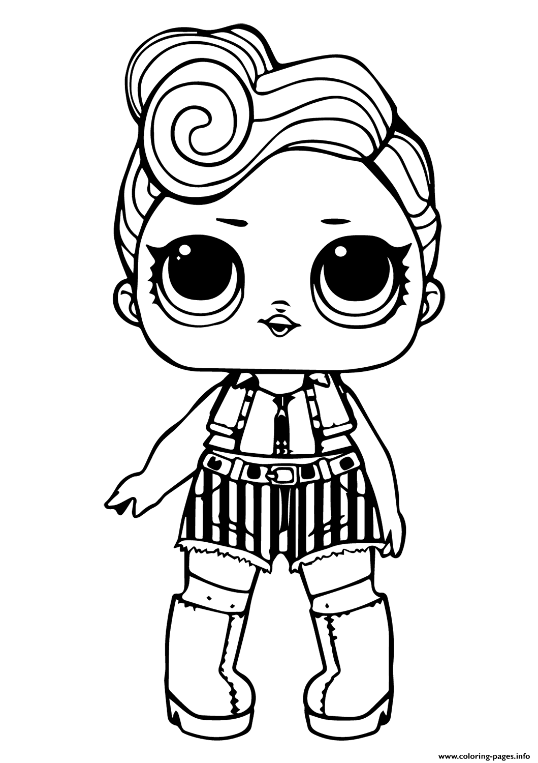 Lol Doll Funky Qt Coloring Pages Printable