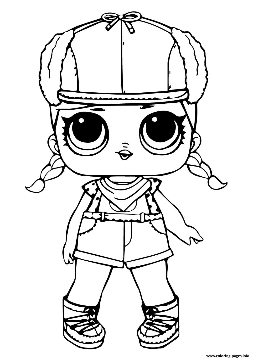 Lol Doll Brrr Bb Coloring Pages Printable