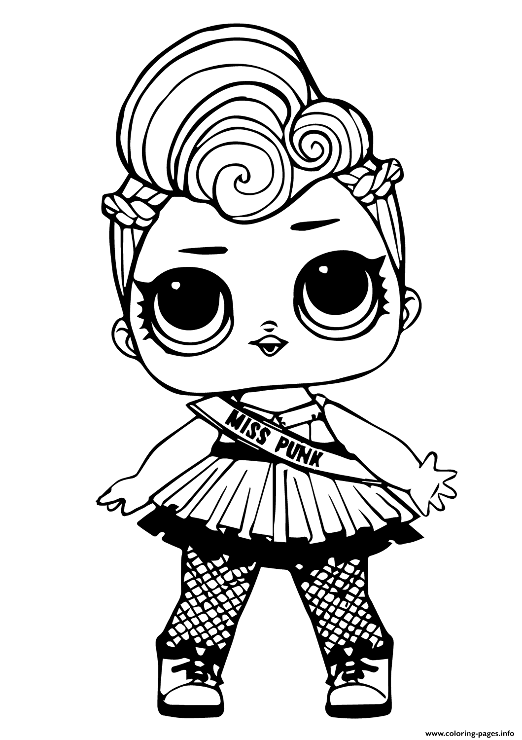 photo regarding Lol Doll Printable named Lol Doll Miss out on Punk Coloring Web pages Printable