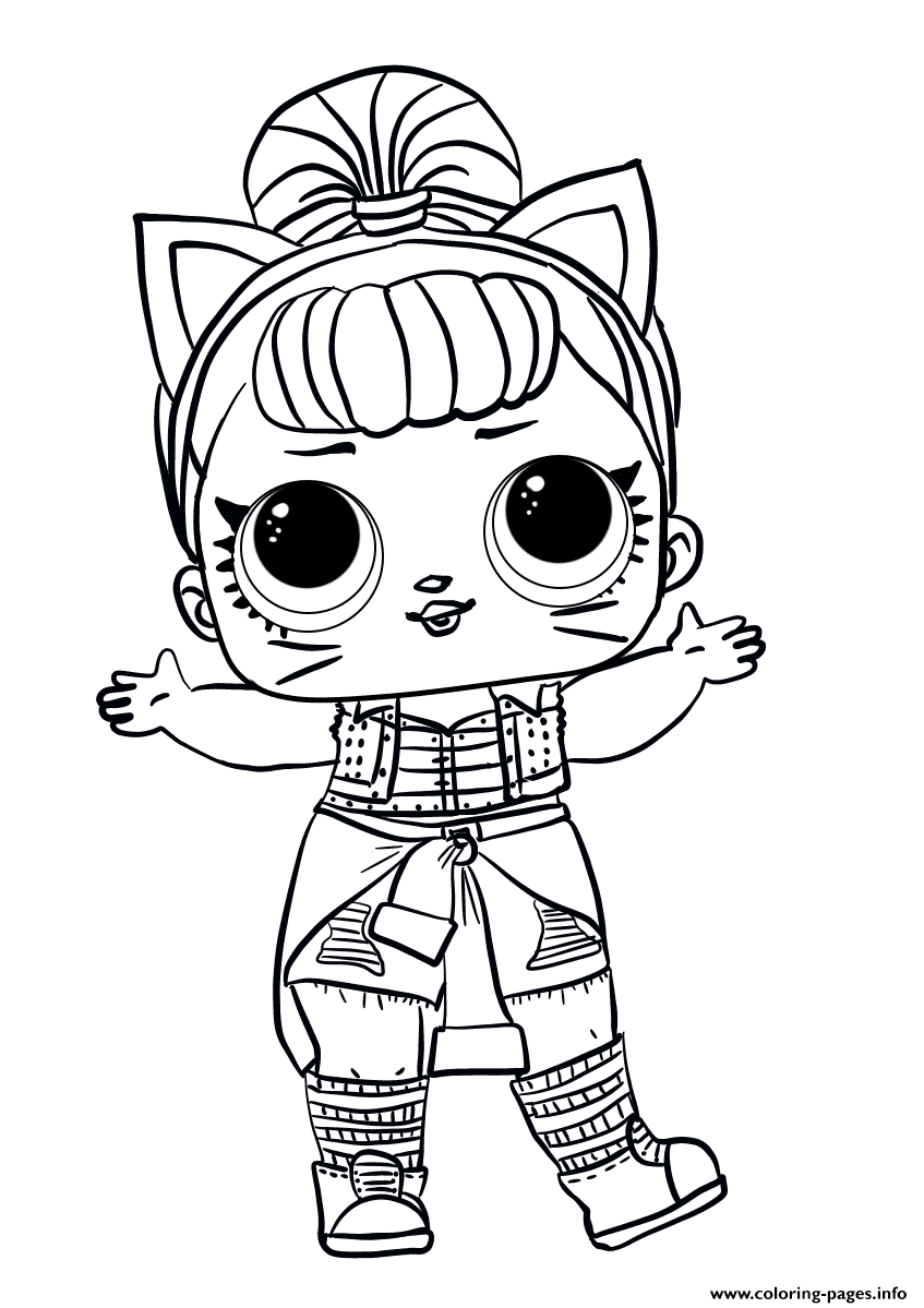 Lol Surprise Doll Troublemaker Coloring Pages Printable
