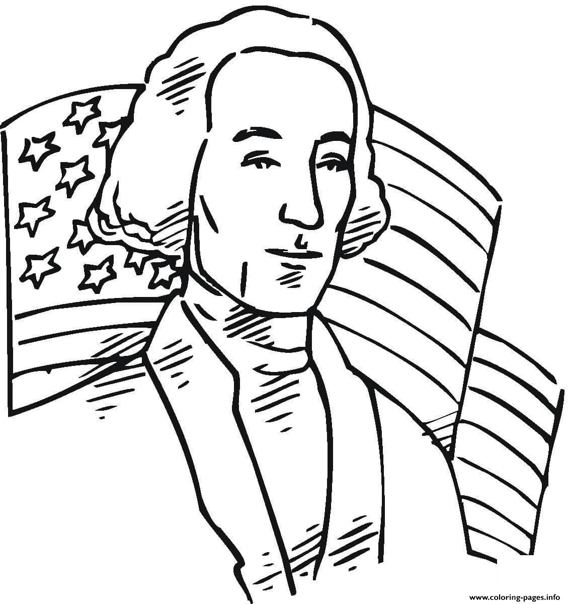 George Washington First President Of United States Coloring Pages