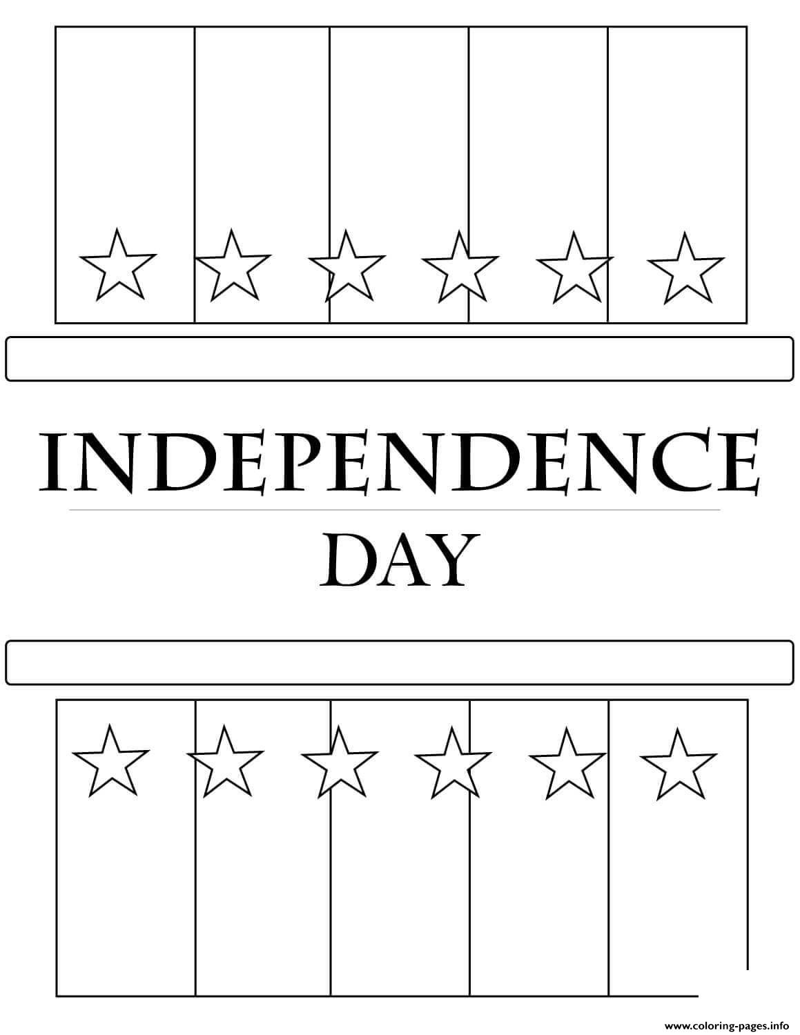 Independence Day Flag America coloring pages