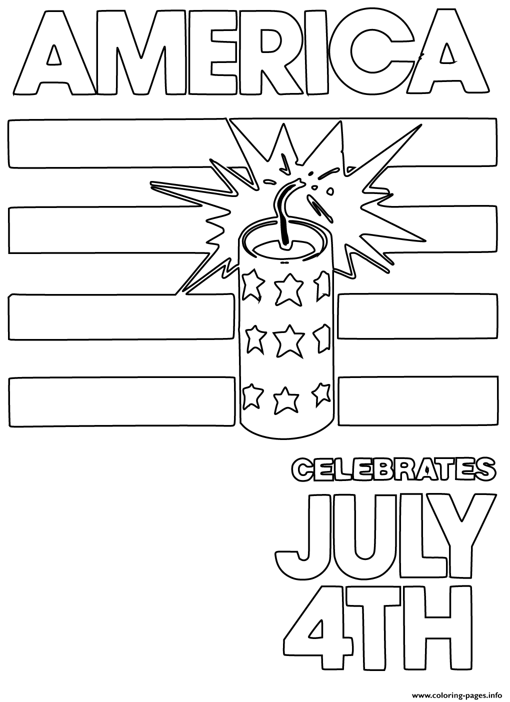 America Celebrates July 4th coloring pages