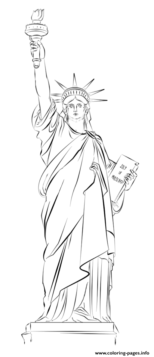 Statue Of Liberty New York Usa coloring pages