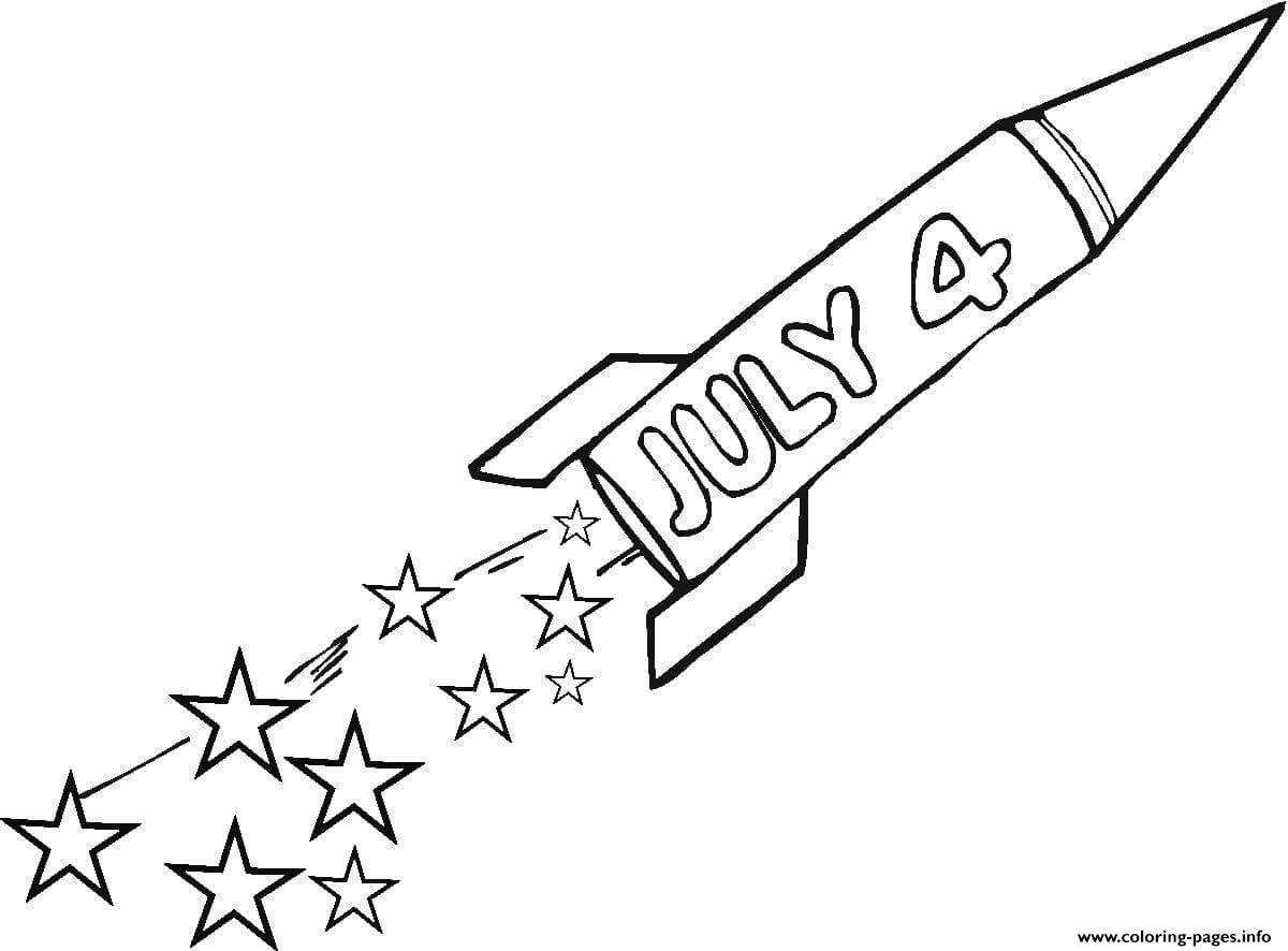 Fourth Of July Rocket coloring pages