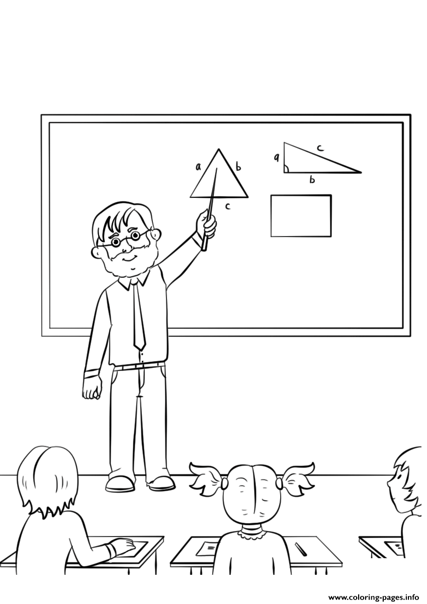 Male Teacher coloring pages