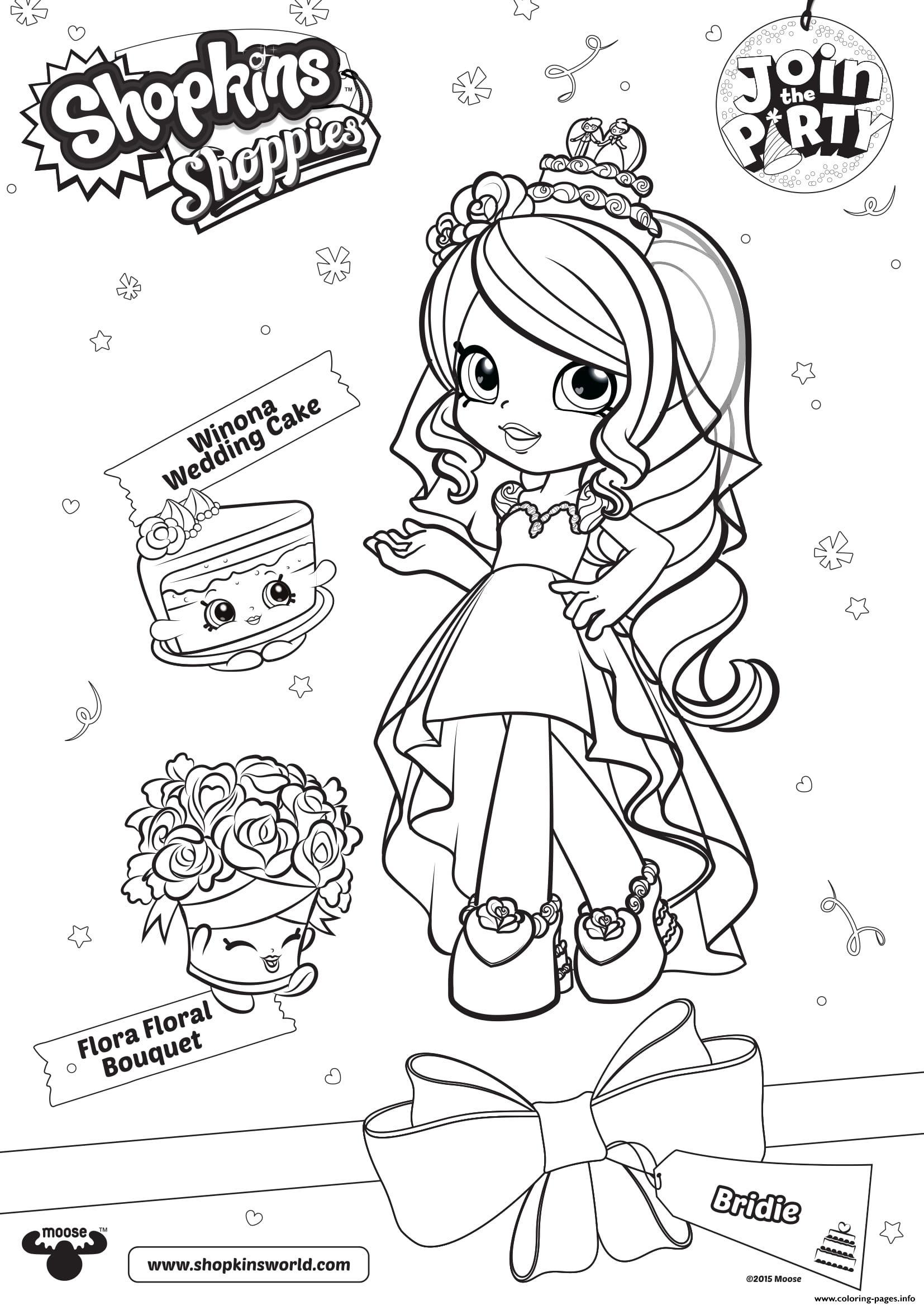 Shopkins Doll Bridie 1 Coloring Pages Printable