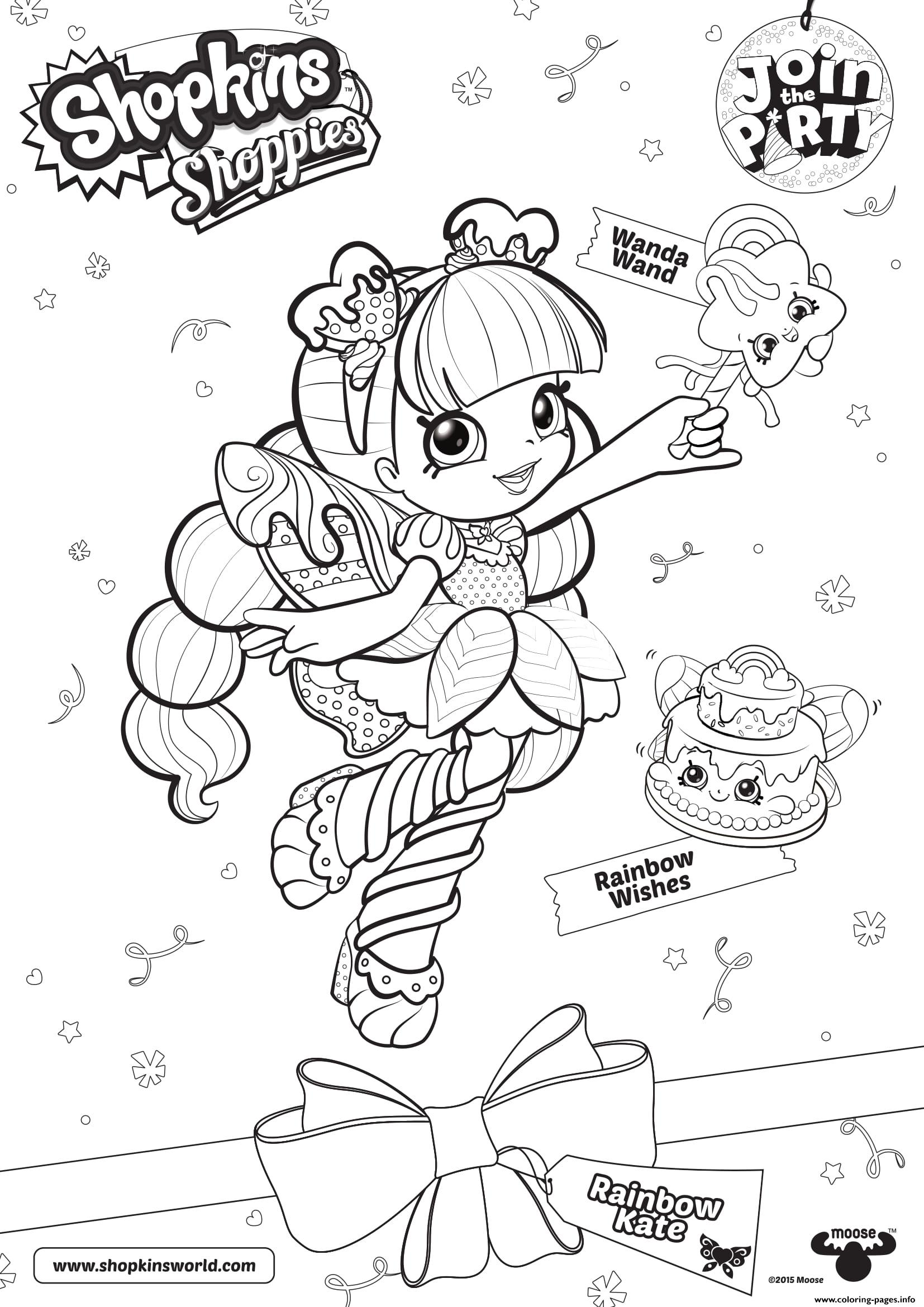 Shopkins Doll Rainbow Kate 1 coloring pages