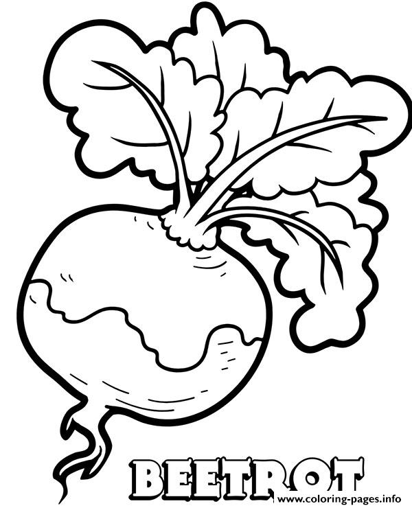 Vegetable Beetrot Coloring Pages
