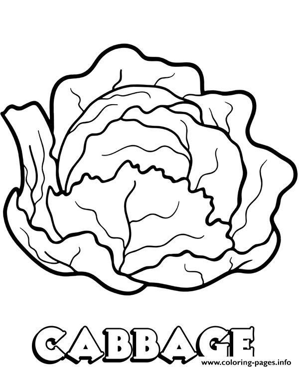 Vegetable Cabbage Coloring Pages